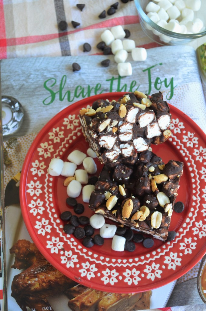 Small Batch Rocky Road Peanut Chocolate Bar By SweetNSpicyLiving