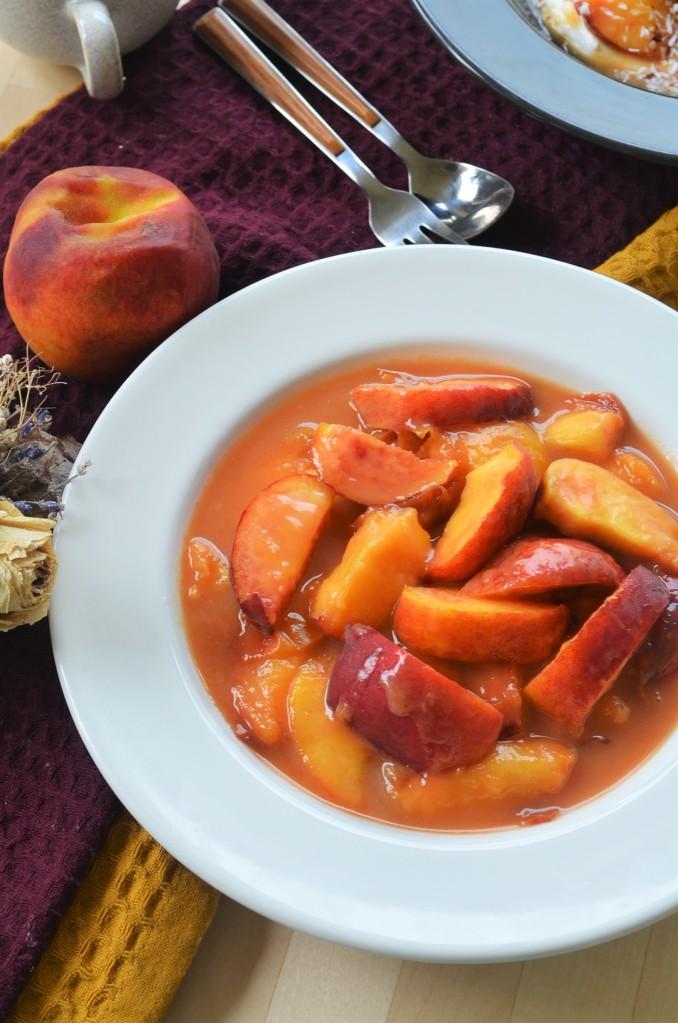 Breakfast Yogurt with Caramelized Peach