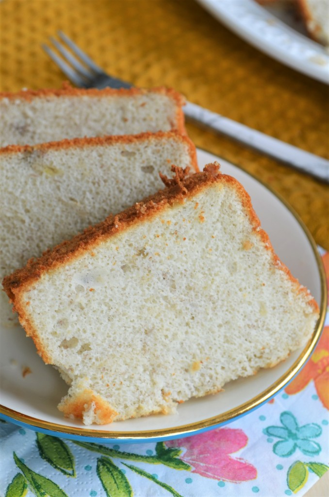 Soft and Fluffy Easy Small Batch Banana Chiffon Cake By SweetNSpicyLiving