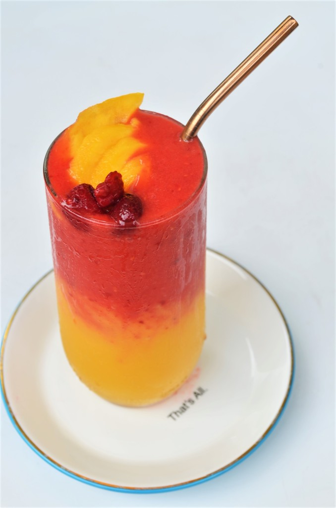 Raspberry Mango Smoothie By SweetNSpicyLving