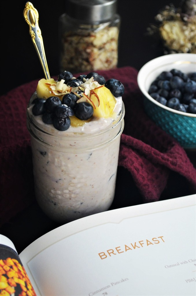 Blueberry Overnight Oatmeal For One