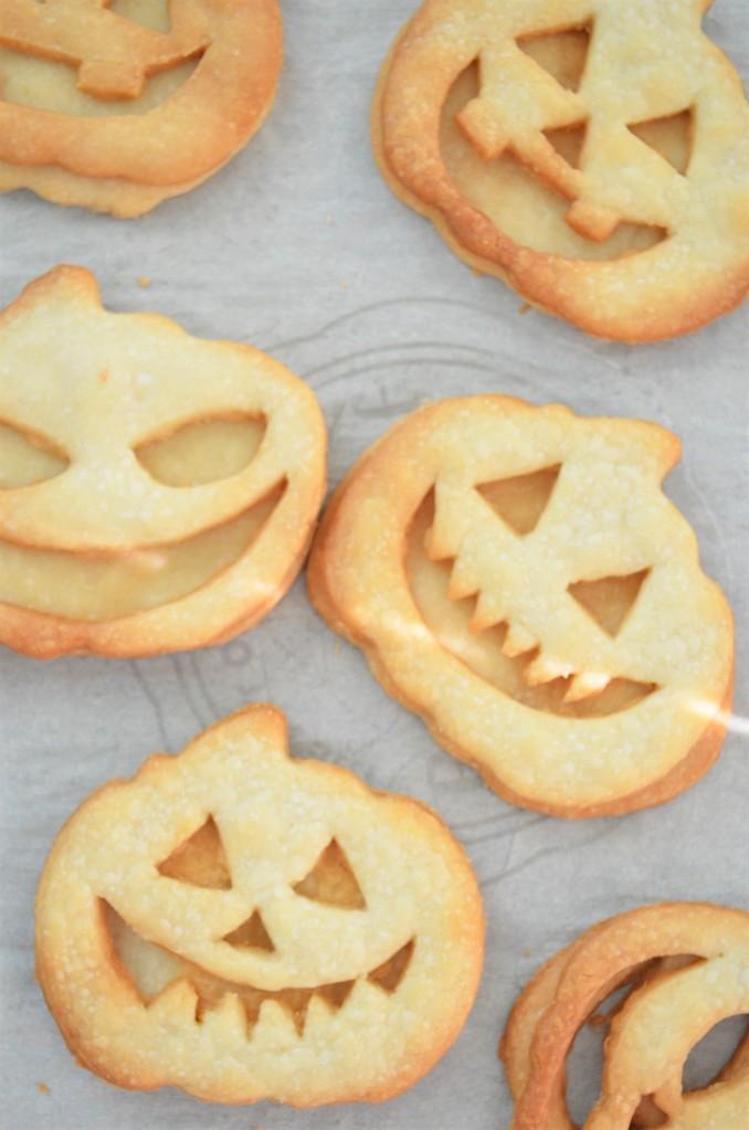Jack O Lantern Shortbread Cookie