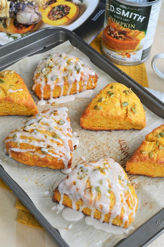 Pumpkin Cream Scones