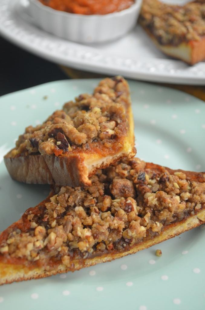 Pumpkin Pecan Crumble French Toast