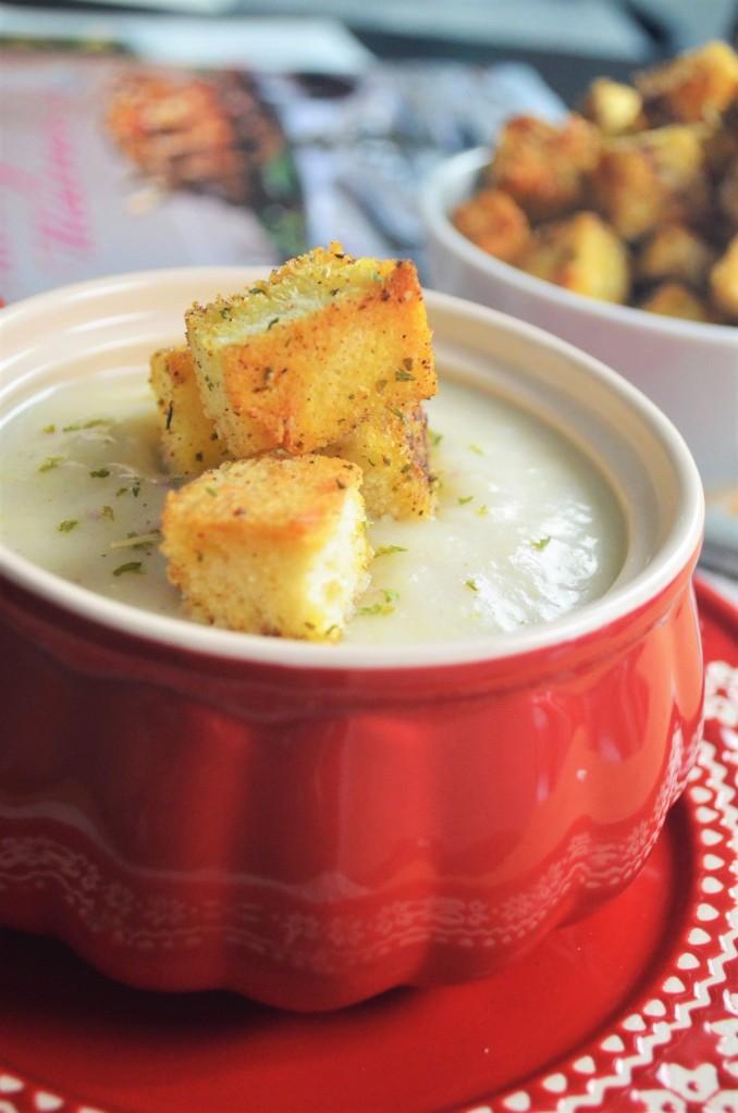 Small Batch Creamy Potato Leek Soup For Two