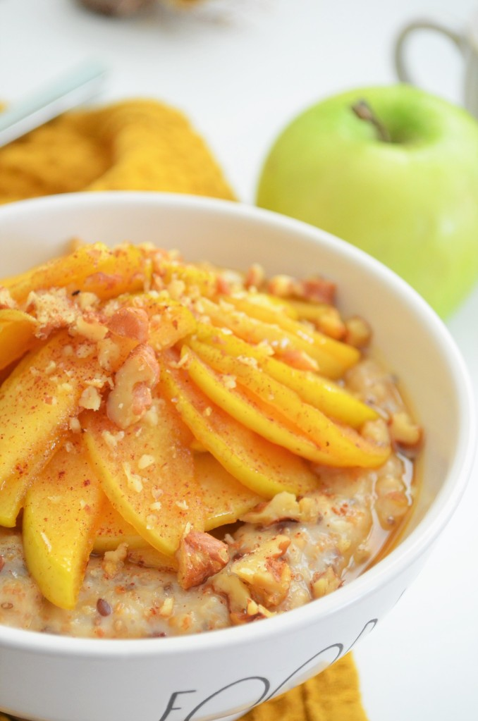 Single Serving Caramelized Apple Oatmeal
