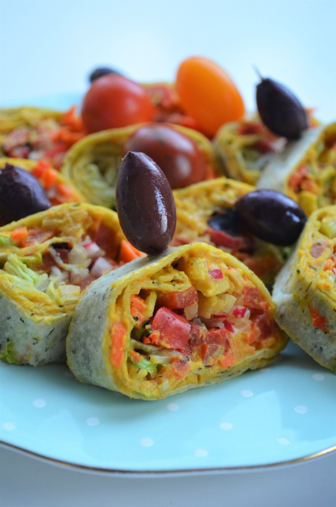 Roasted Veggie Vegetarian Tortilla Wrap