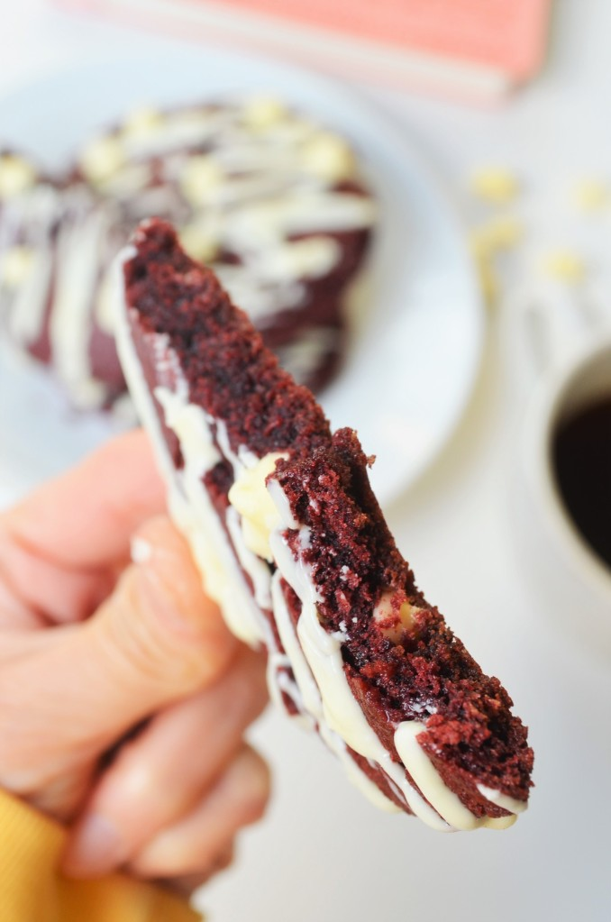Soft and Chewy Red Velvet White Chocolate Chip Cookie