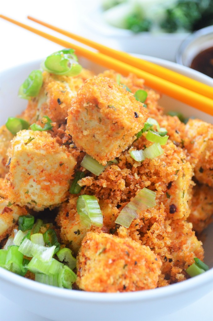 Baked Panko Crusted Tofu By SweetnSpicyLiving