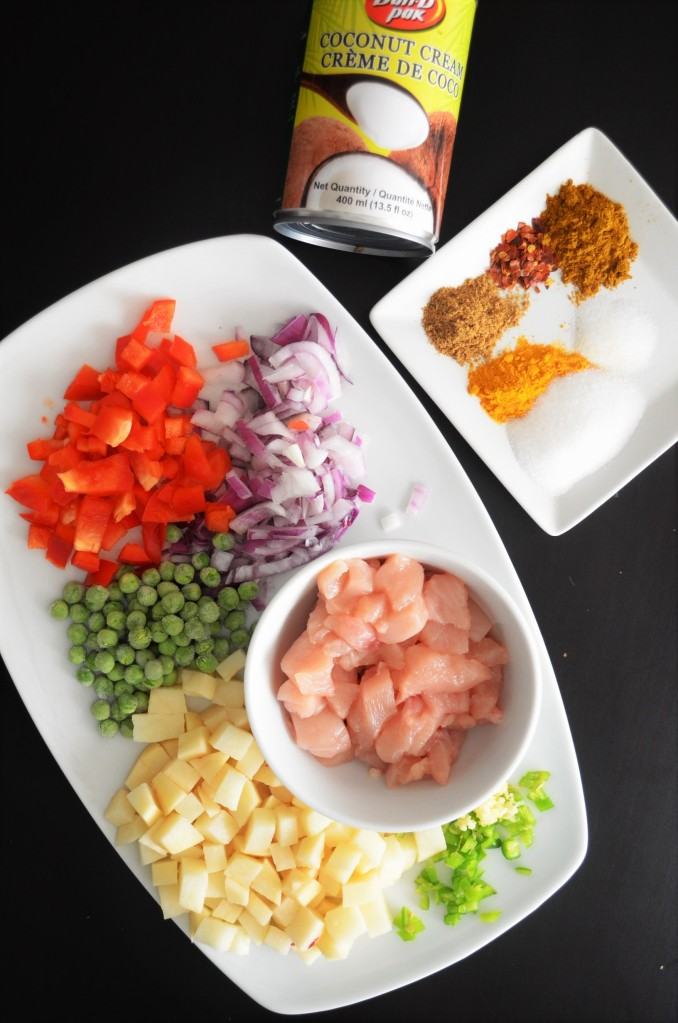 Chicken Potato Curry Ingredients