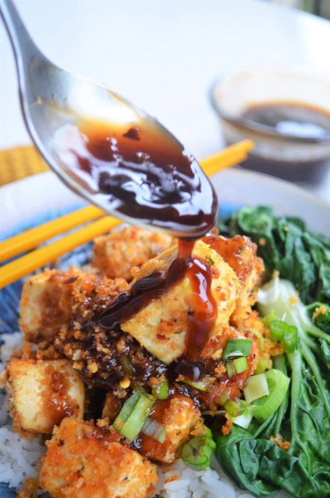 Baked Panko Crusted Tofu