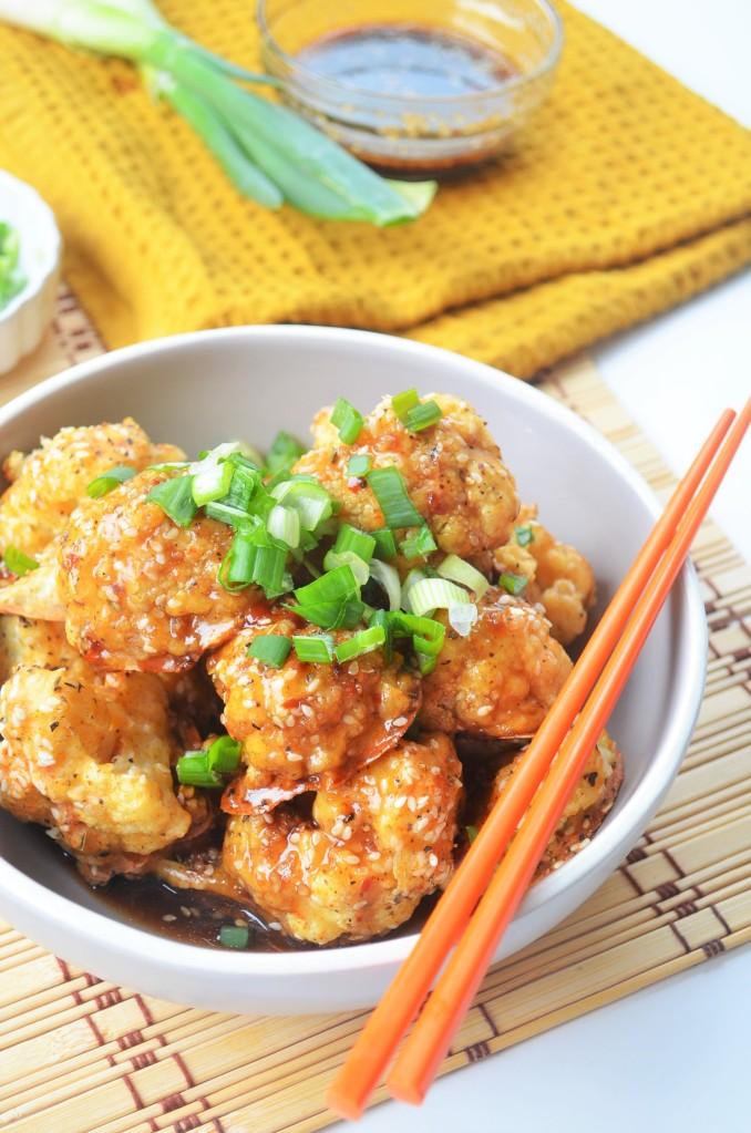 Vegan Cauliflower with Garlic Sesame Teriyaki Sauce
