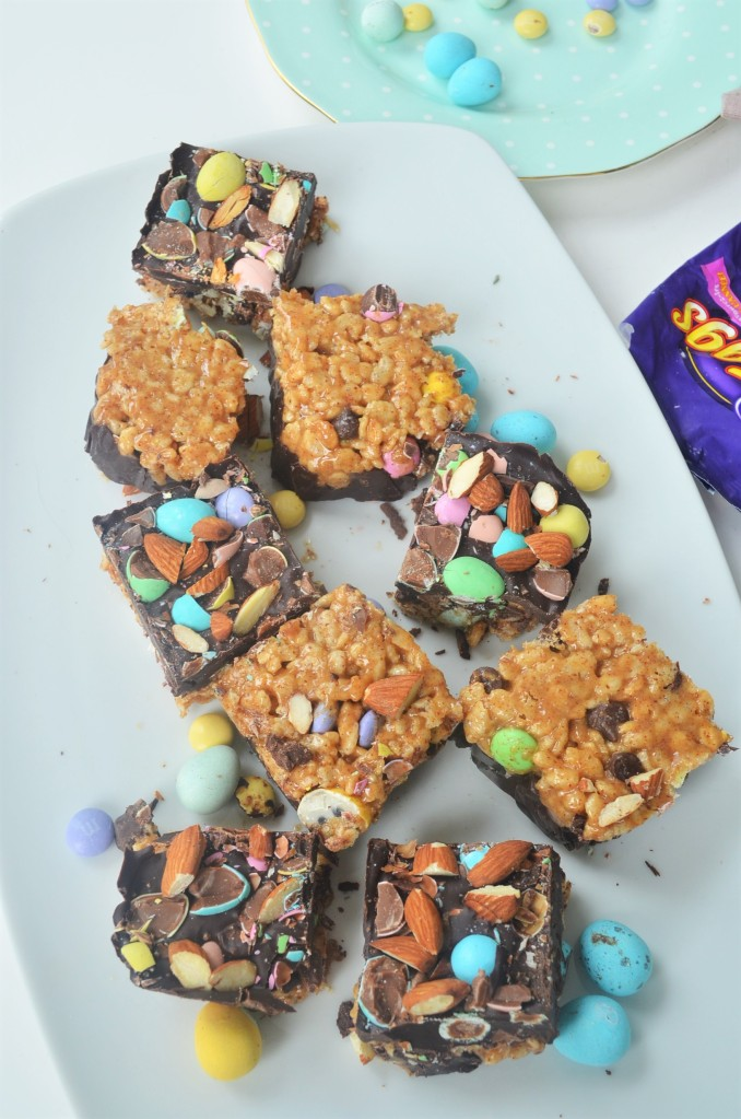 Small Batch Mini Easter Eggs   Peanut Butter and Chocolate Rice Crispy