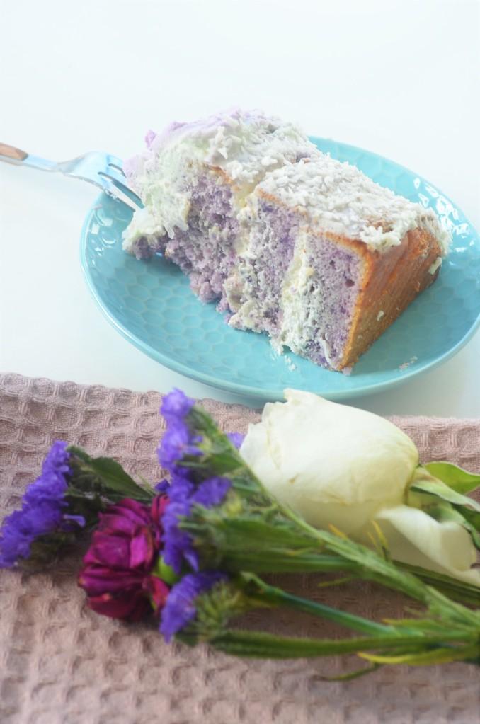 Ube Macapuno Chiffon Cake