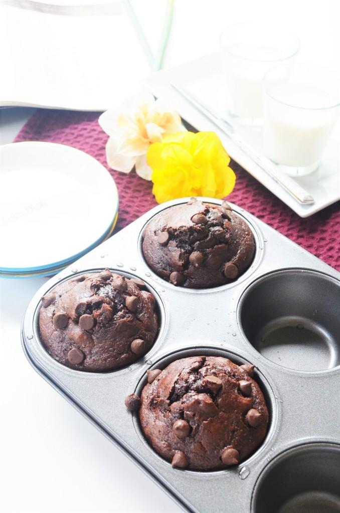 Jumbo Sponge Chocolate Banana Muffin
