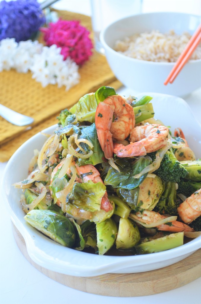 Brussels Sprout Stir-Fry