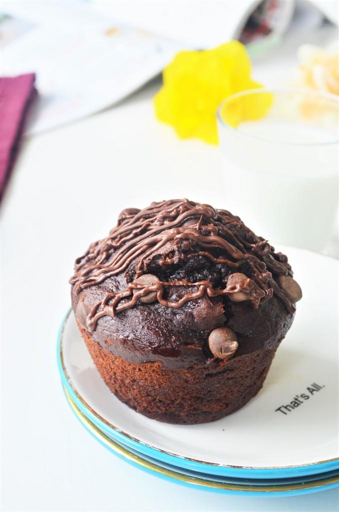 Banana Spong Chocolate Muffin
