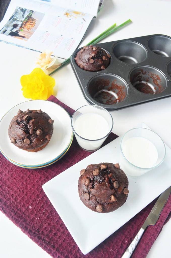 Jumbo Chocolate Banana Muffin