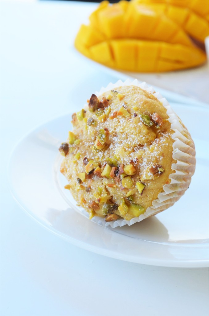 Small Batch Mango and Pistachio Muffin