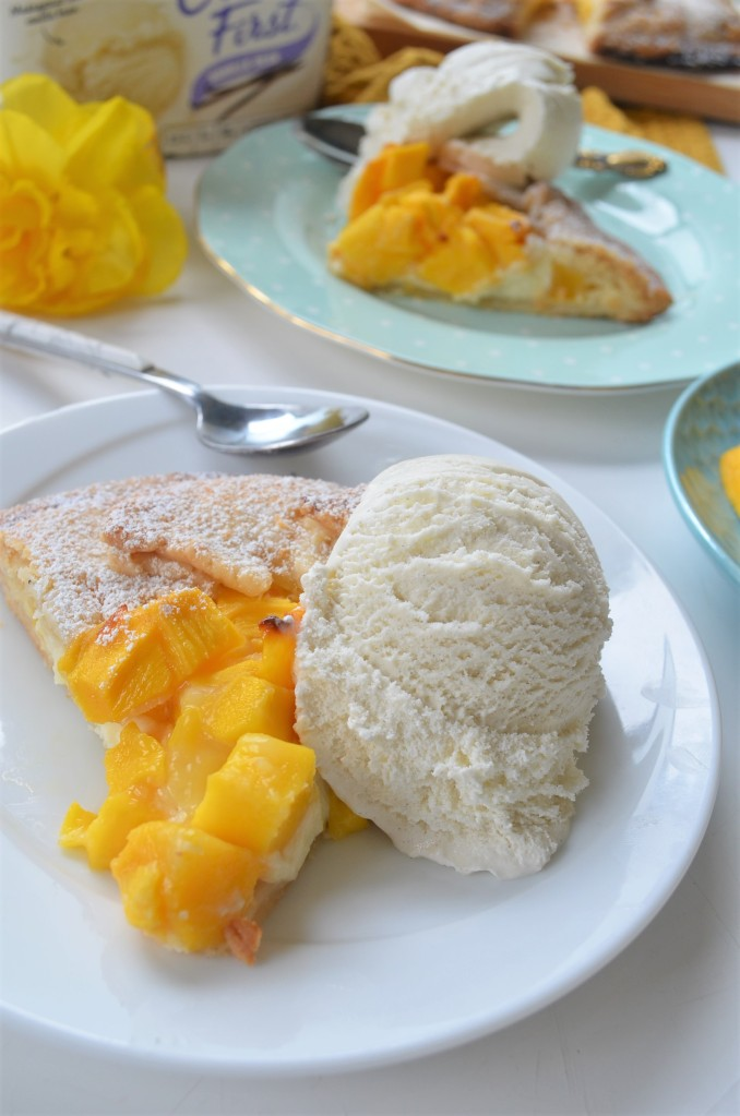Mangoes and Cream Galette