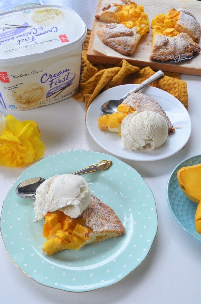 Mangoes and Cream Galette By SweetNSpicyLiving