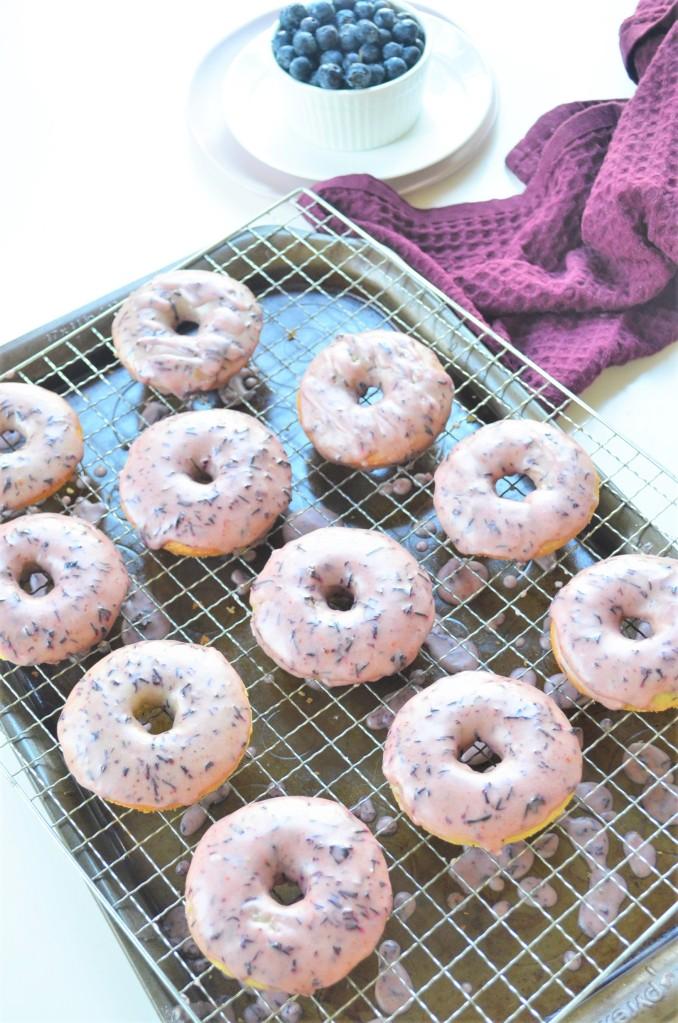 Blueberry Glazed Donut