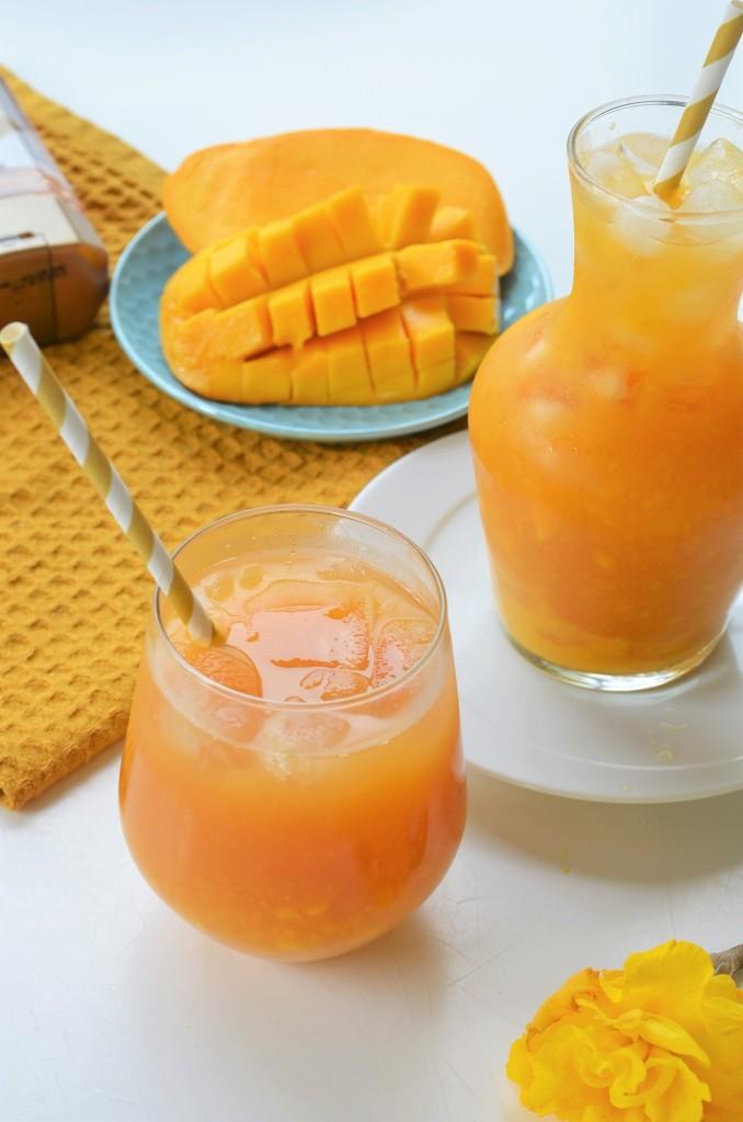 Fresh Mango Iced Tea By SweetNSpicyLiving