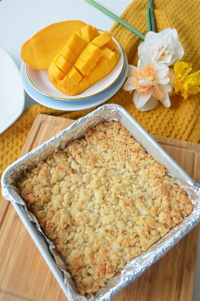 Mango Shortbread Oats Crumb Bar