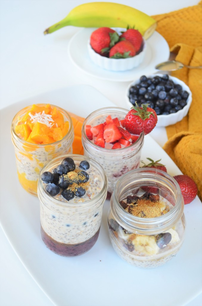 Meal Prep Berries Overnight Oatmeal