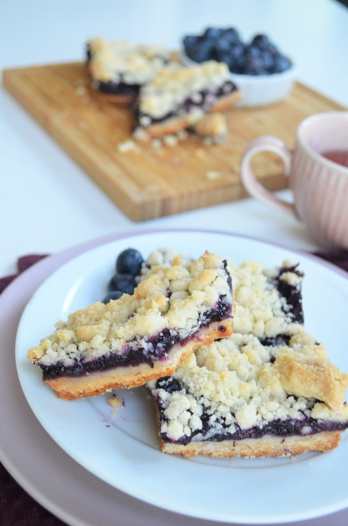 Small Batch Blueberry  Chia Seed Jam  Shortbread Crumb Bars