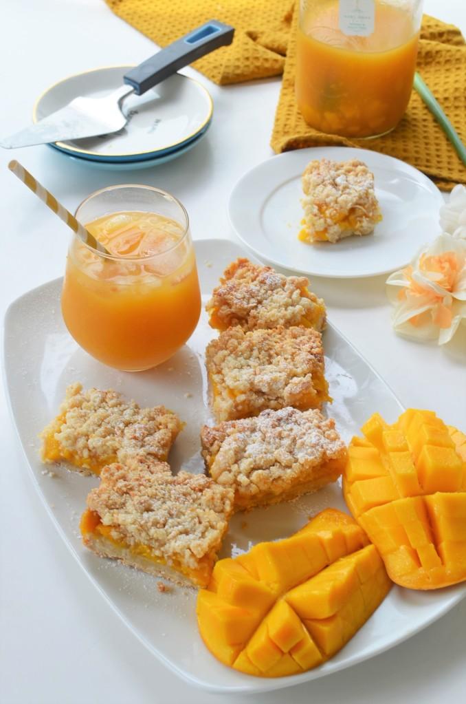 Small Batch Mango Oats Crumb Bar