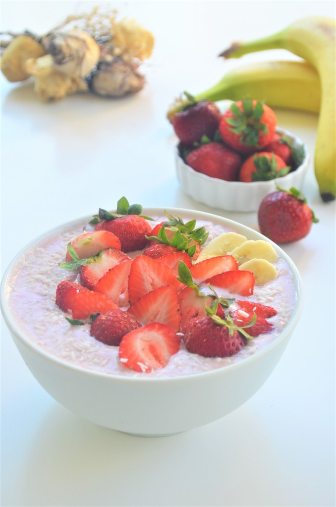 Strawberry Banana Smoothie Bowl By SweetNSpicyLiving