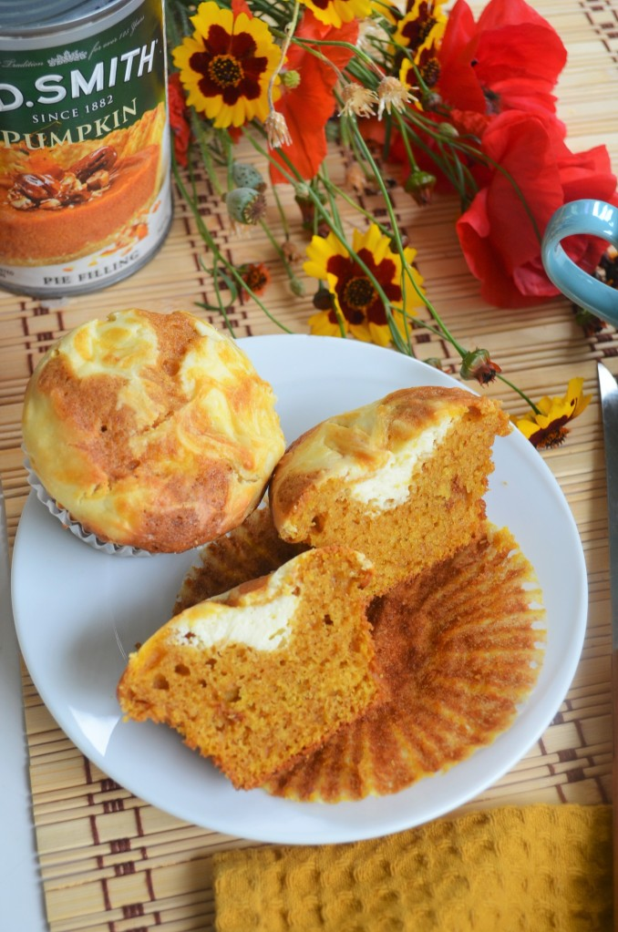 Pumpkin Cream Cheese Swirl Muffin By SweetNSpicyLiving