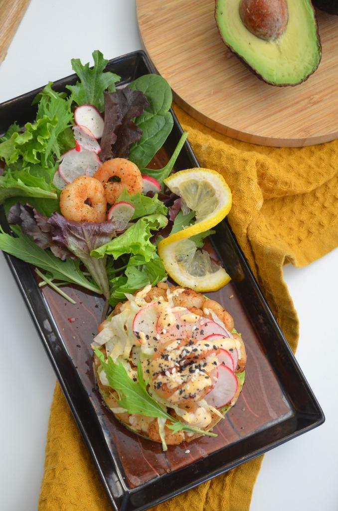 Quinoa and Avocado Stack Salad