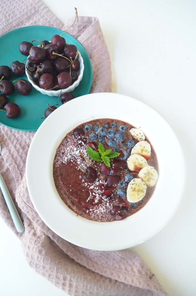 Single Serving Cherry Smoothie Bowl