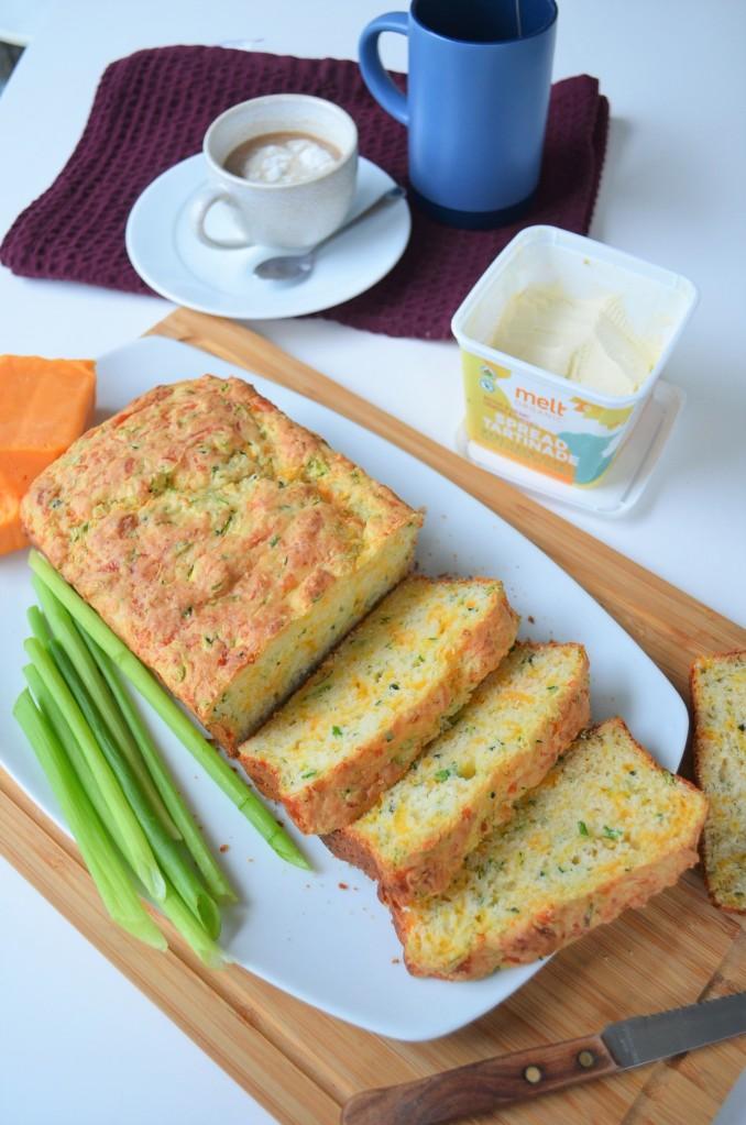 Zucchini and Green Onion Quick Cheese Bread