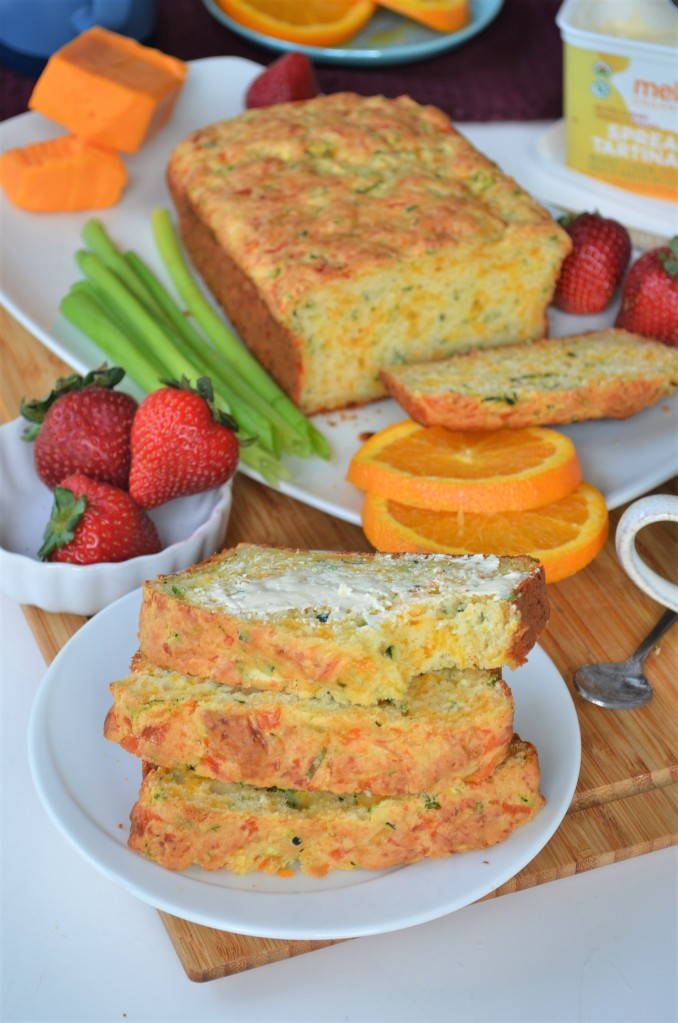 Zucchini and Green Onion Quick Cheese Bread By SweetNSpicyLiving