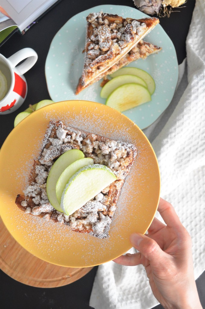 Baked Apple Toast For Two