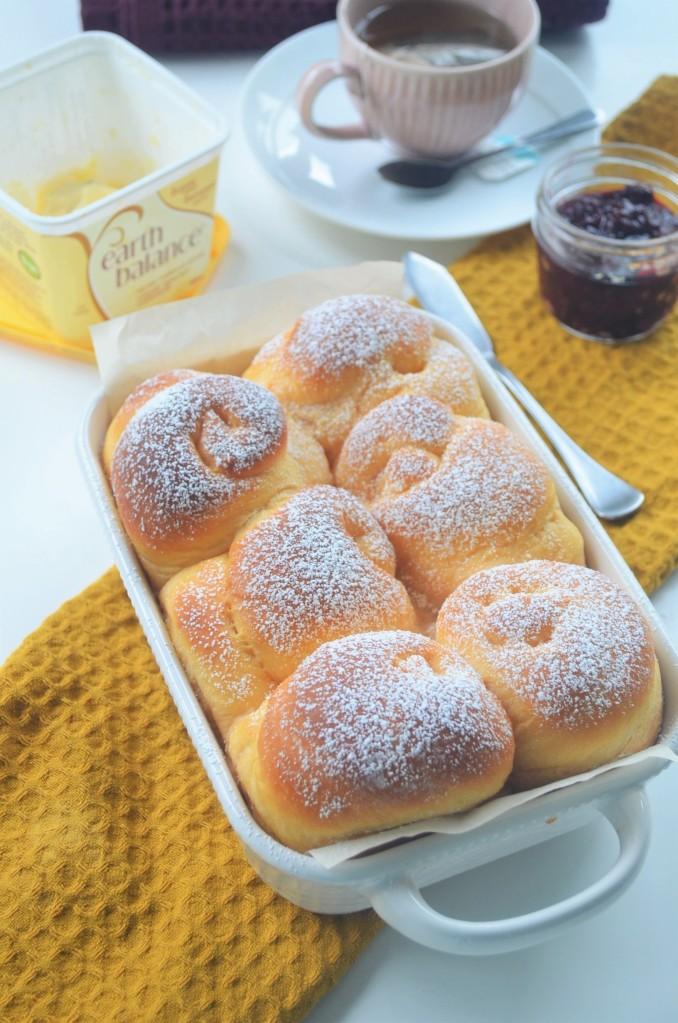 Small Batch Sweet Potato Bread Rolls