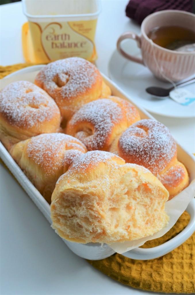 Small Batch Sweet Potato Bread Rolls By SweetNSpicyLiving